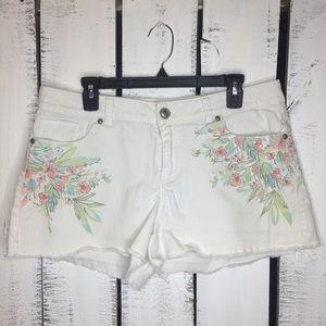 Lauren Conrad Floral Cut Off Shorts 14